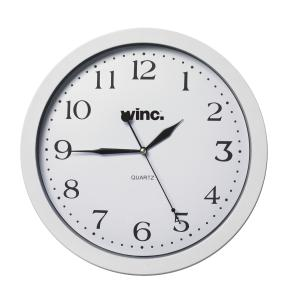 Winc Quartz Wall Clock 30cm White