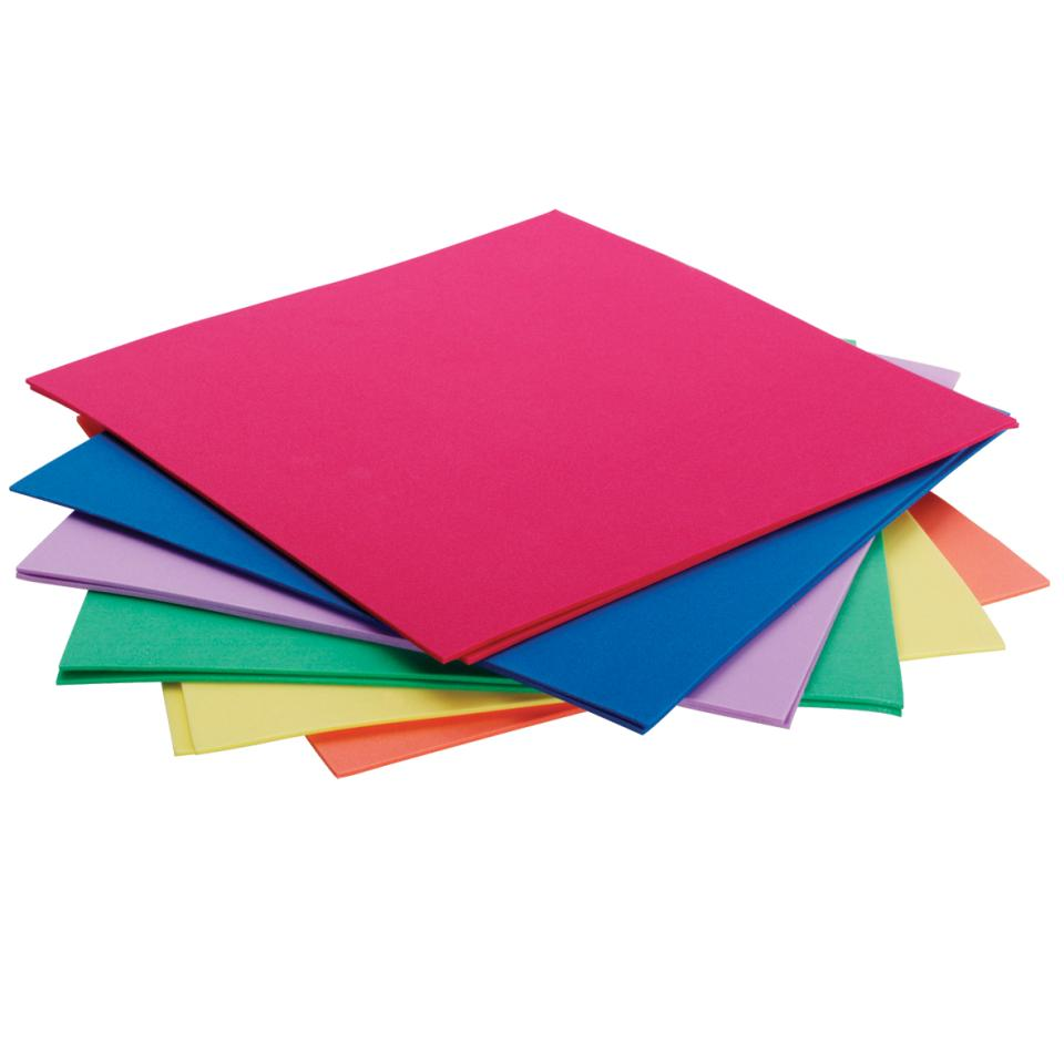 Jasart Foam Sheets 300X300mm Assorted Colours Pkt 12