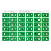 Avery R Side Tab Colour Coding Labels for Lateral Filing - 25 x 38mm - Light Green - 180 Labels