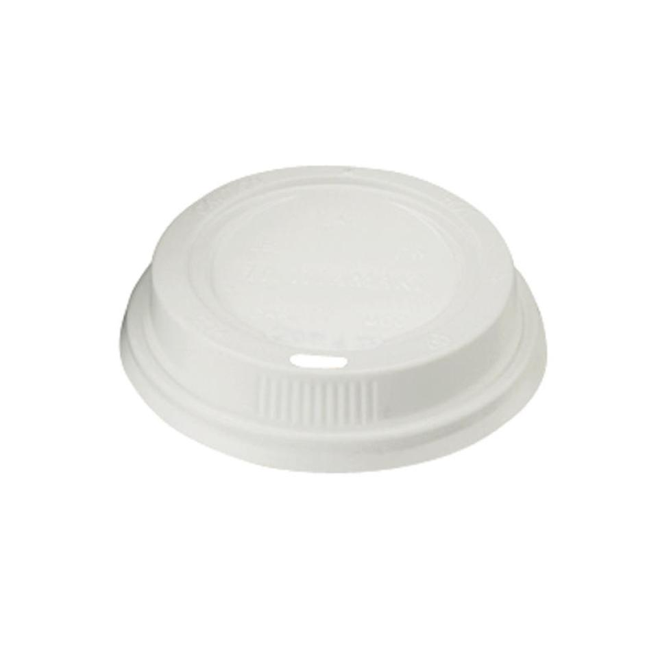 Closed Loop Plastic Lid To Suit 12Oz/355ml Hot Cup White Carton 1000