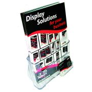 Deflecto Brochure Holder With Business Card Holder Free Standing A4 Clear