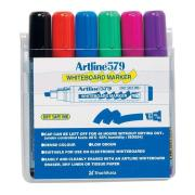Artline 579 Whiteboard Marker Chisel Set 6