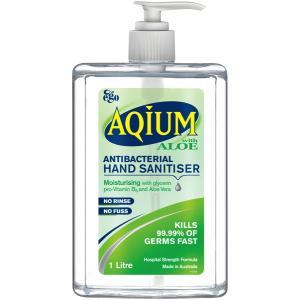 Ego Aqium Hand Sanitiser Aloe Pump 1L