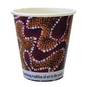 CCAB Indigenous Heavy Board Hot Cup 8Oz/285ml Indigenous Print Carton 1000