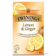 Twinings Herbal Infusions Lemon & Ginger Tea Bags Pack 40