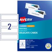 Avery Delegate Cards - 210 x 74.25mm - 50 cards - 150g/m2 (L7423)