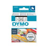 Dymo D1 Label Printer Tape 6mm x 7m Black On White