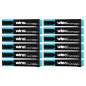 Winc Highlighter Recycled Chisel Tip 1.0-4.5mm Blue Box 12