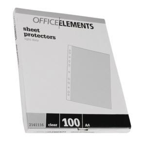 Office Elements Portrait Sheet Protectors A4 Pack/100