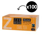Zoetic Organic & Fairtrade Chai Enveloped Tea Bags Pack 100