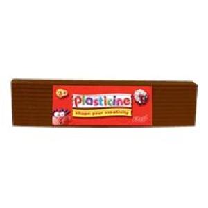 Colorific Plasticine Education Pack 500gm - Brown Image