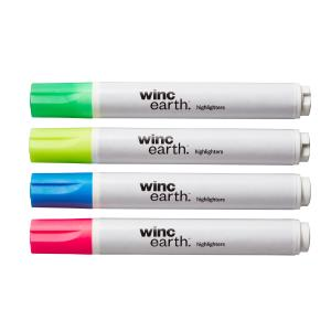 Winc Earth Whiteboard Markers Recycled Bullet Tip 1.5-3.0mm Assorted Colours Box 4