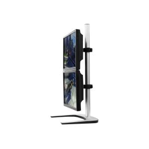 Visidec VFS-DV Dual Monitor Vertical Freestanding Desk Mount