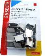 Esselte 45201 Nalclip Refills Large Stainless Steel Pack 25