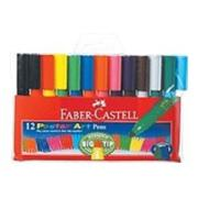 Faber-Castell Jumbo Connector Pens Coloured Markers Assorted Pack 12