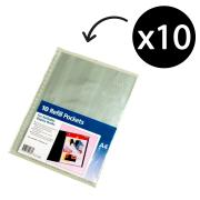 Marbig A4 Display Book Refill Sheets Pack 10