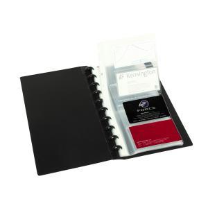 Marbig Kwik Zip Business Card Book A4 200 Card Capacity Black