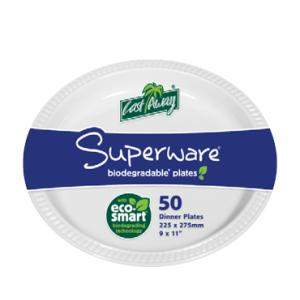 Castaway Superware Plastic Oval Plate Large 275X225mm White Pack 50  sc 1 st  Winc & Castaway Superware Plastic Oval Plate Large 275X225mm White Pack 50 ...