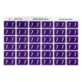 Avery 7 Side Tab Colour Coding Labels for Lateral Filing - 25 x 38mm - Purple - 180 Labels