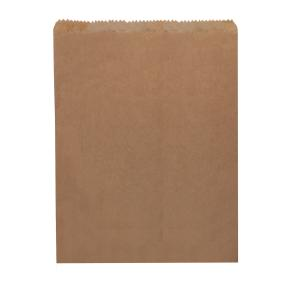 Castaway Paper Bag No. 8 Flat Bakery 270X335mm Brown Carton 500