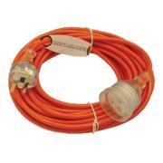 Vacspares 33200027 Cord Extension Lead 10 AMP 3 Core Orange 15 Metre Each