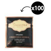 SereniTEA Organic & Fairtrade Chamomile Enveloped Pyramid Tea Bags Pack 100