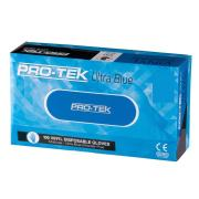 Protek Ultra Blue Disposable Vinyl Glove Powder Free Blue Box 100