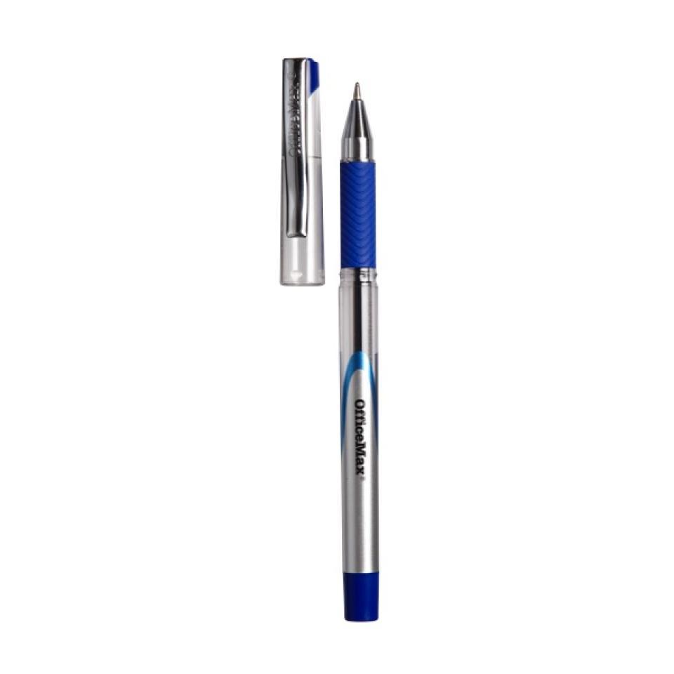 Officemax Blue Ballpoint Pen 1.0mm Rubber Grip