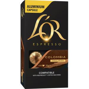 L'OR Espresso Coffee Capsules Colombia Box 10