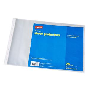 Staples Sheet Protector A3 Punched Landscape Pack 25