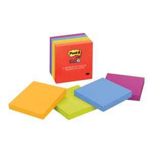 Post-It Notes Super Sticky 654-5Ssan 76 X 76mm Marrakesh Collection