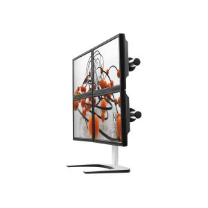 Visidec VFS-Q Quad Monitor Freestanding Desk Mount