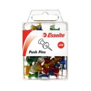 Esselte 45110 Push Pins Assorted Colours Pack of 50