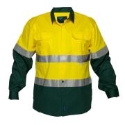 Prime Mover WWL8001A Lightweight Cotton Drill Shirt with Mesh Splits