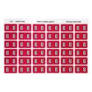 Avery B Side Tab Colour Coding Labels for Lateral Filing - 25 x 38mm - Magenta - 180 Labels