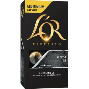 L'OR Espresso Coffee Capsules Onyx Box 10