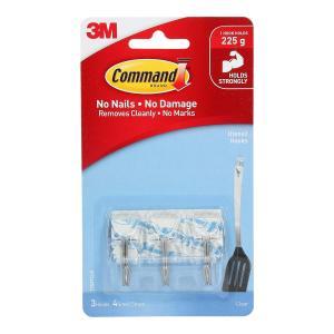 Command Clear Utensil Hooks 3Pk