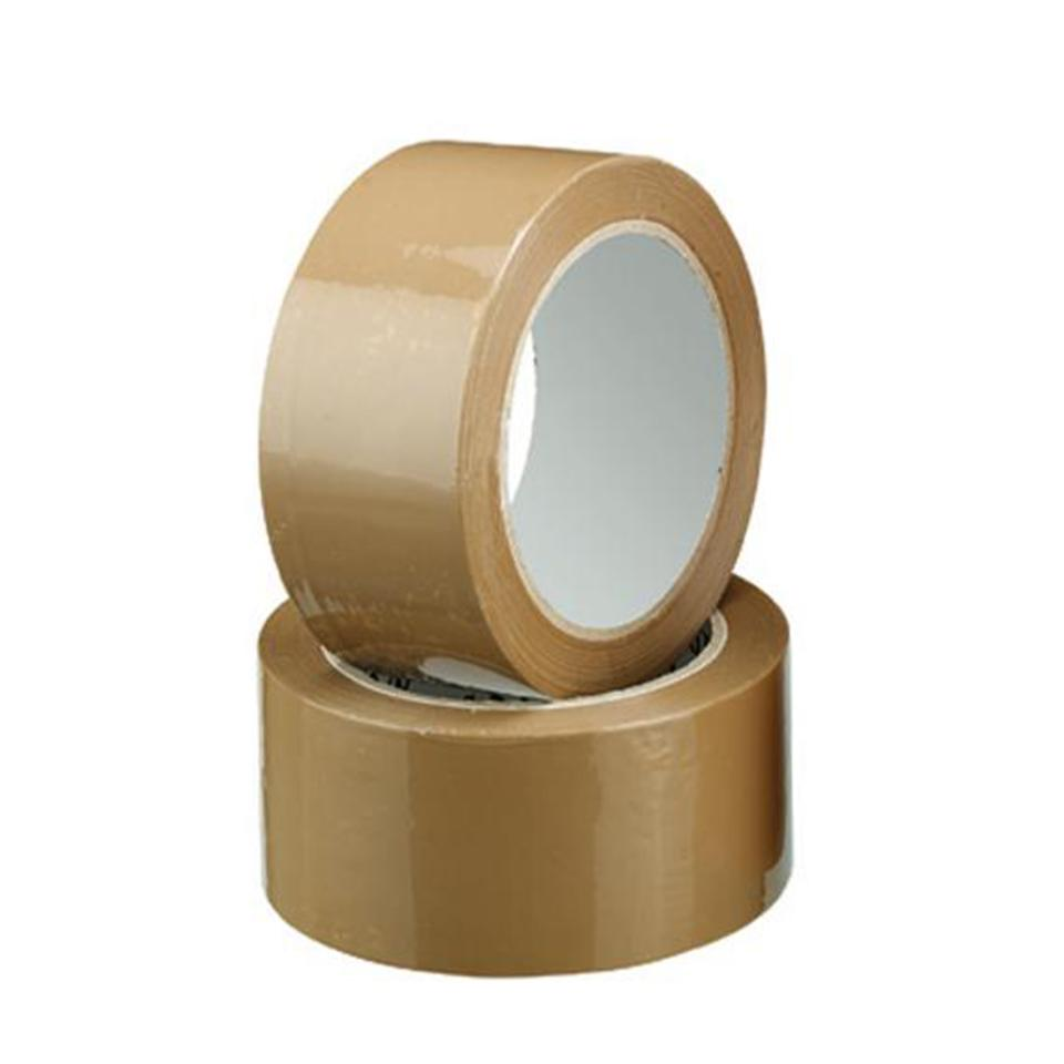Staples Packaging Tape Pp30S Rubber 38mmx75m Brown Carton 48 Rolls