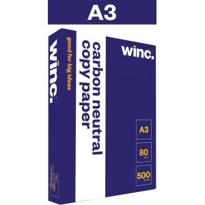 Winc A3 Carbon Neutral Copy Paper 80gsm White Box 3 Reams