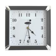Carven Wall Square Clock Black