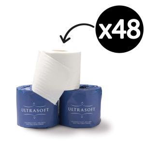 Ultrasoft Toilet Tissue Roll 2 Ply 400 Sheets White Pack 48