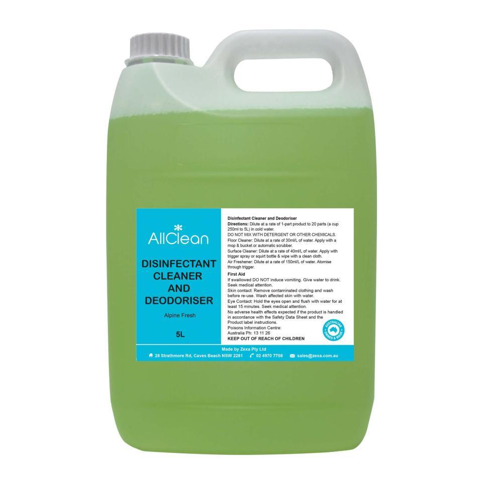 Allclean Disinfectant Cleaner & Deodoriser Fresh Pine 5 Litre