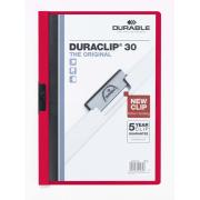Durable Duraclip Document File 30 Sheets Capacity A4 Red