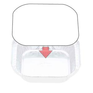 Confoil  Container Board Lid To Suit 7313 & 7113 Foil Container Carton 1000