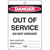 Brady 842375 Danger Out Of Service Do Not Operate Lockout Tag Pack 10