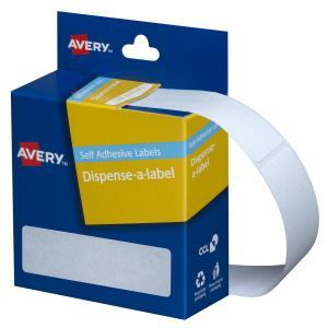 Avery White Rectangular Dispenser Labels - 64 x 19mm - 280 Labels - Hand writable