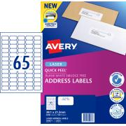 Avery Address Labels with Quick Peel for Laser Printers - 38.1 x 21.2mm - 6500 Labels (L7651)