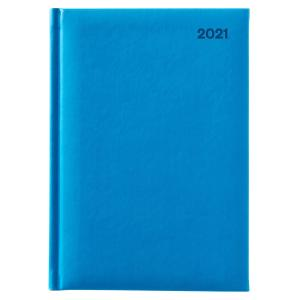 Winc Soft Touch 2021 Hard Cover Diary A5 Day to Page Blue