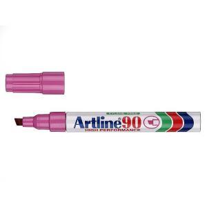 Artline 90 Permanent Marker Chisel Tip 2-5mm Pink