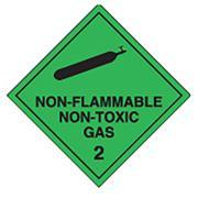 Brady Dangerous Good Labels Non-Flammable Non-Toxic Black